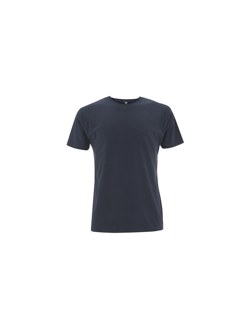 T-shirt uomo vintage manica corta lavaggio vintage in cotone bio