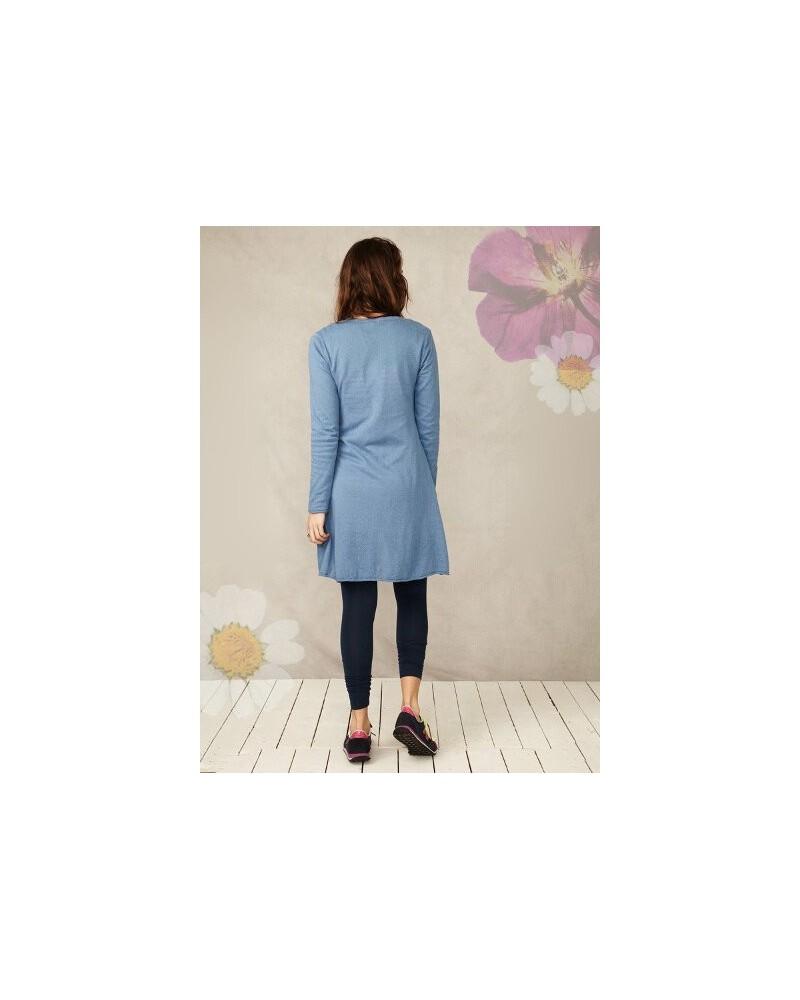 Braintree Cardigan lungo da donna in cotone organico Blu L