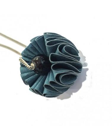 Ciondolo Oni Ottanio. Elemento realizzato con tessuto in fibra di cellulosa. Made in Italy