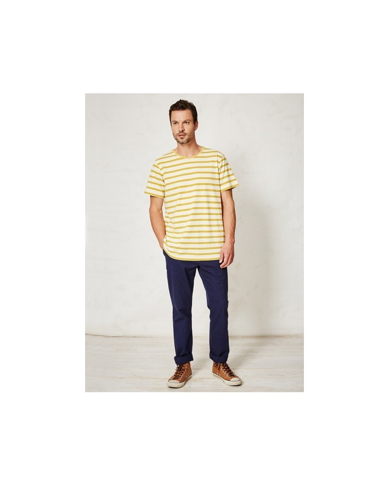 T-shirt uomo in canapa Lauris Branitree. Giallo