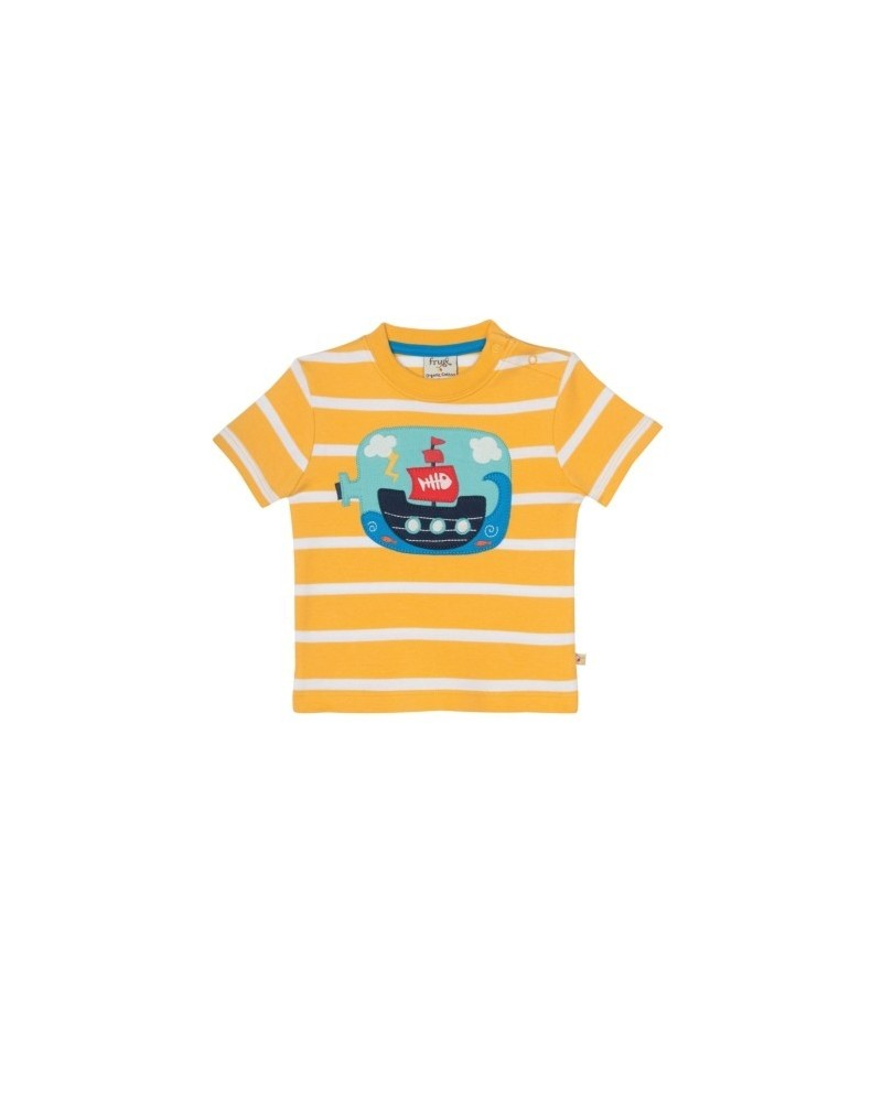 T-shirt Bottle Frugi a righe in cotone organico
