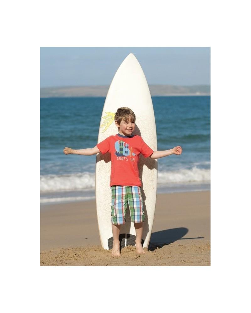 T-shirt Frugi surf bicolore per bambino