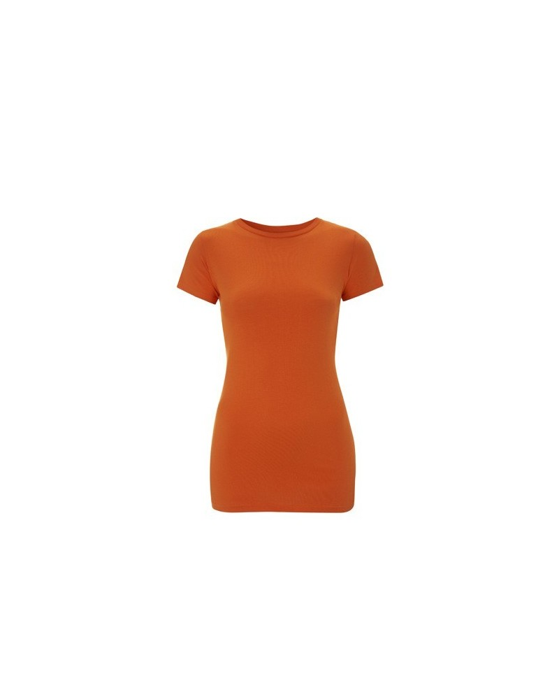 T-shirt donna in cotone biologico slim.