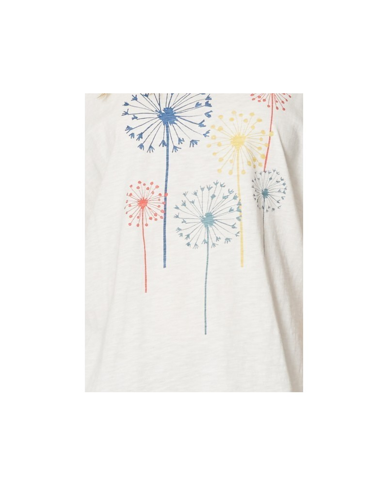 T-shirt bianca in cotone organico blomst Braintree
