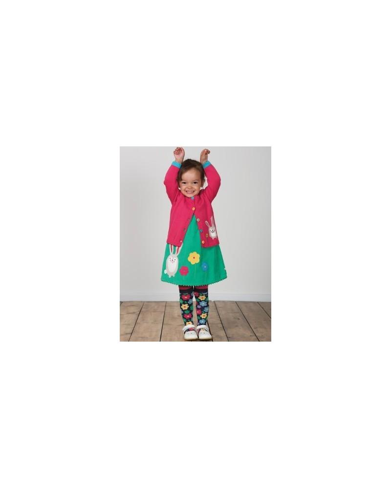 Vestito smanicato in velluto verde mod Lily topo