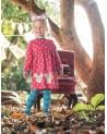 Vestito manica lunga bambina in cotone organico mod Dolcie