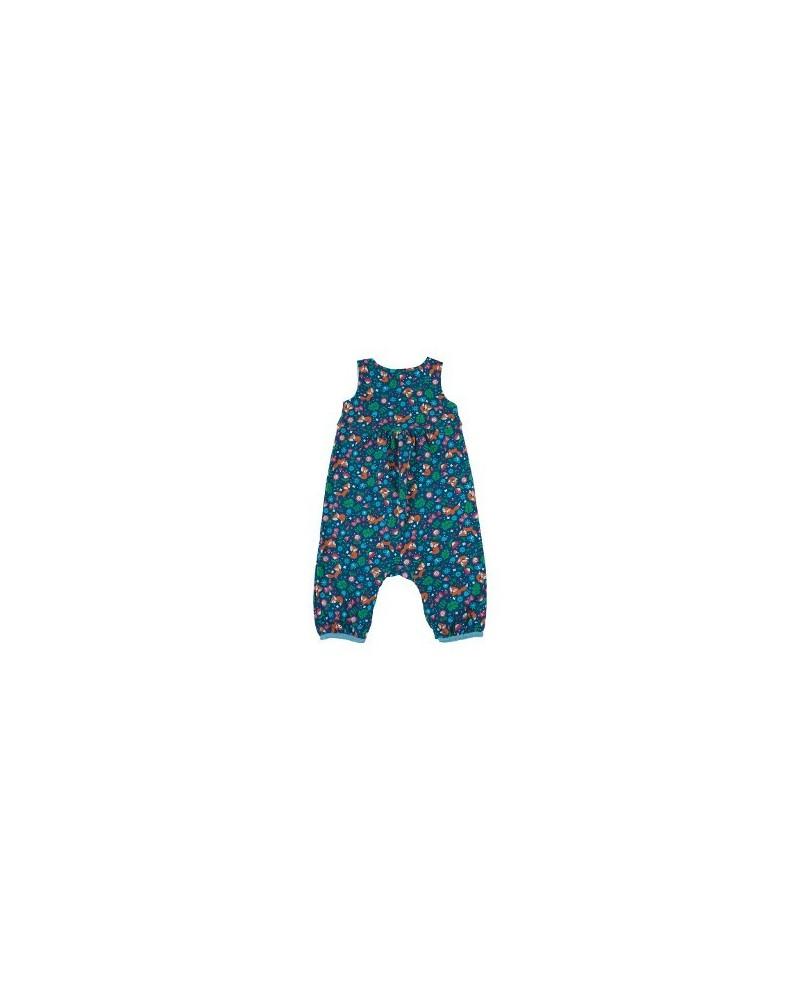 Vestito smanicato con tasche in cotone organico mod Flora Ottanio