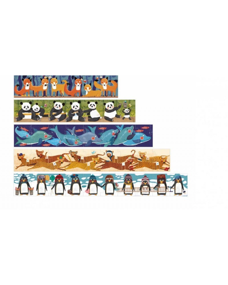 Puzzle 10 Pinguini Eco-Friendly