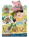 Puzzle I tre piccoli porcellini 36pc Eco-Friendly