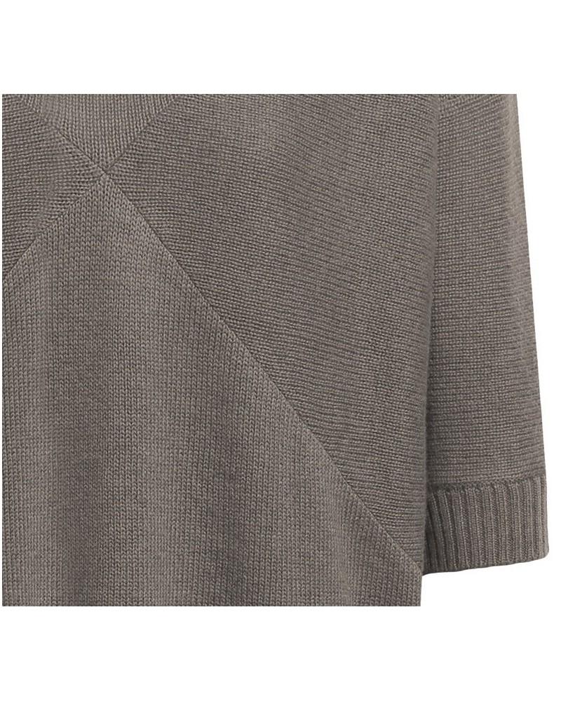 Maglione donna in lana manica ¾ mod. Maberra Caffè