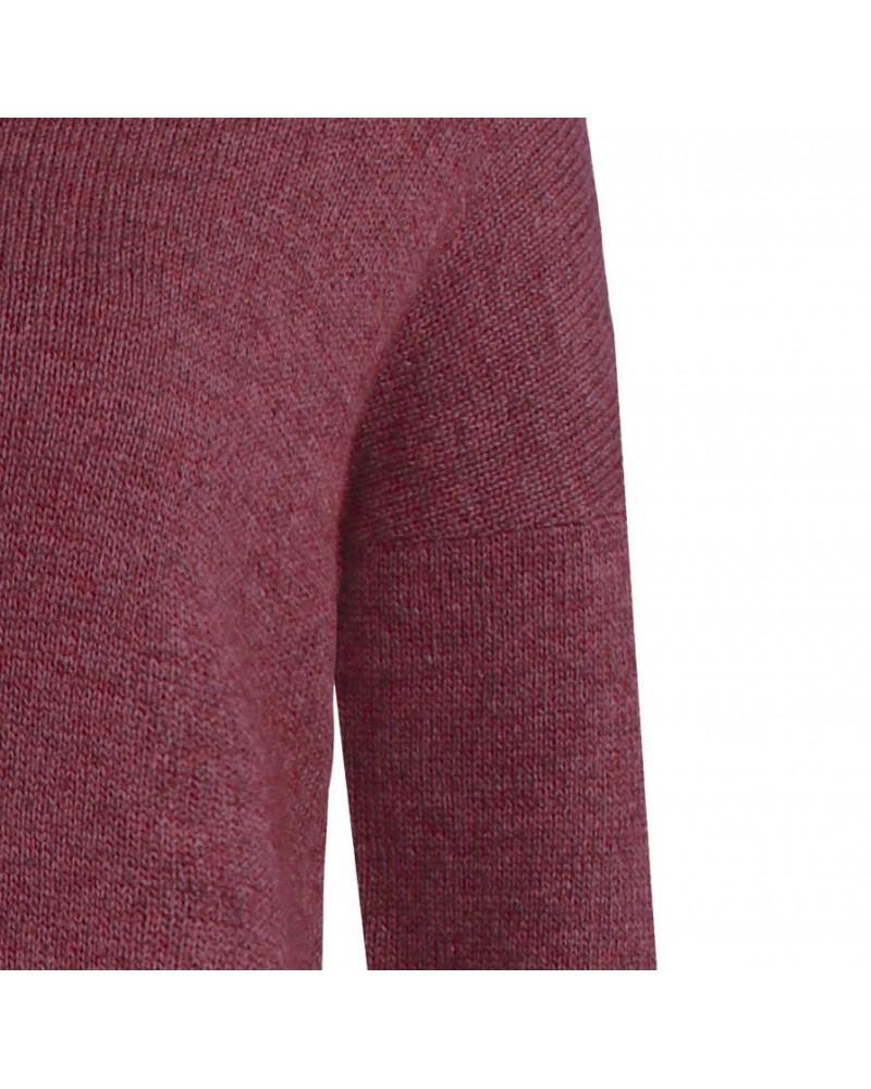 Maglione donna in lana collo alto mod. Sanka Vinaccia
