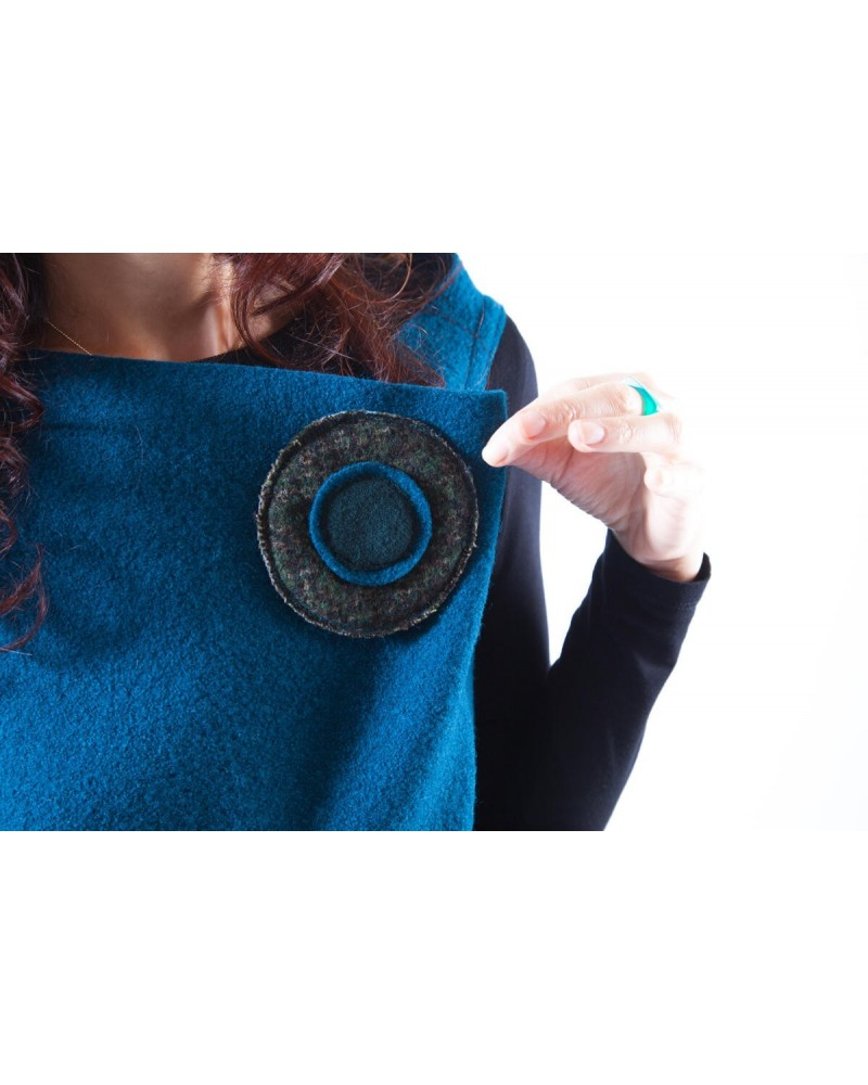 Abito sartoriale spilla corto in lana Made in Italy Ottanio