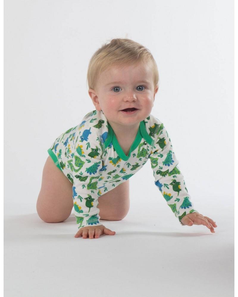 Body in cotone biologico manica lunga per bambino Frugi 3 PZ