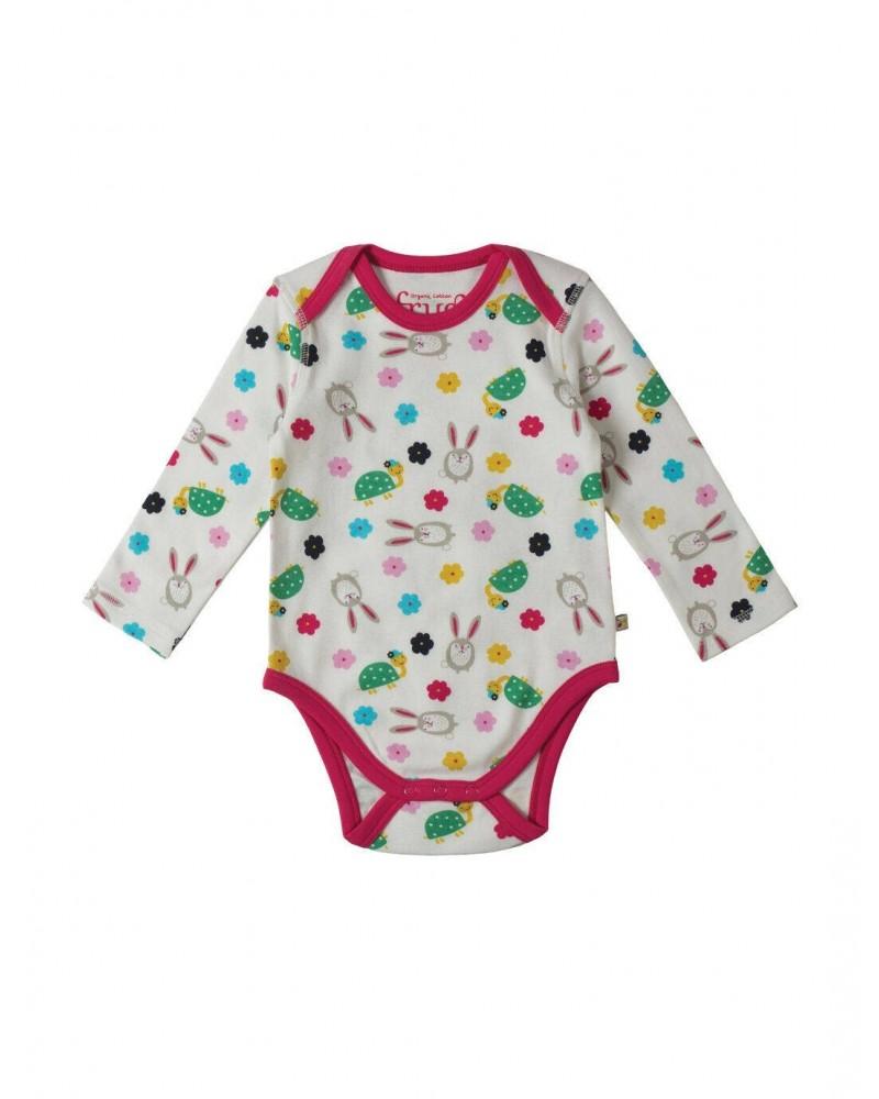 Body in cotone biologico per bambina Frugi 3 PZ
