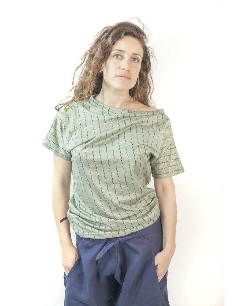 Maglia donna sartoriale filo di scozia Verde