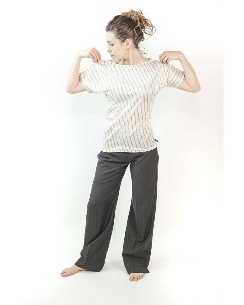 Pantalone sartoriale donna con fascia nero.