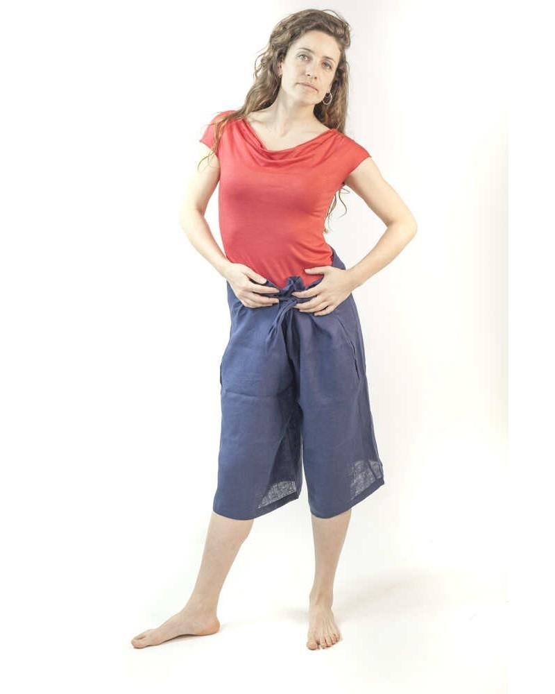Pantalone marinaretta donna blu Made in Italy