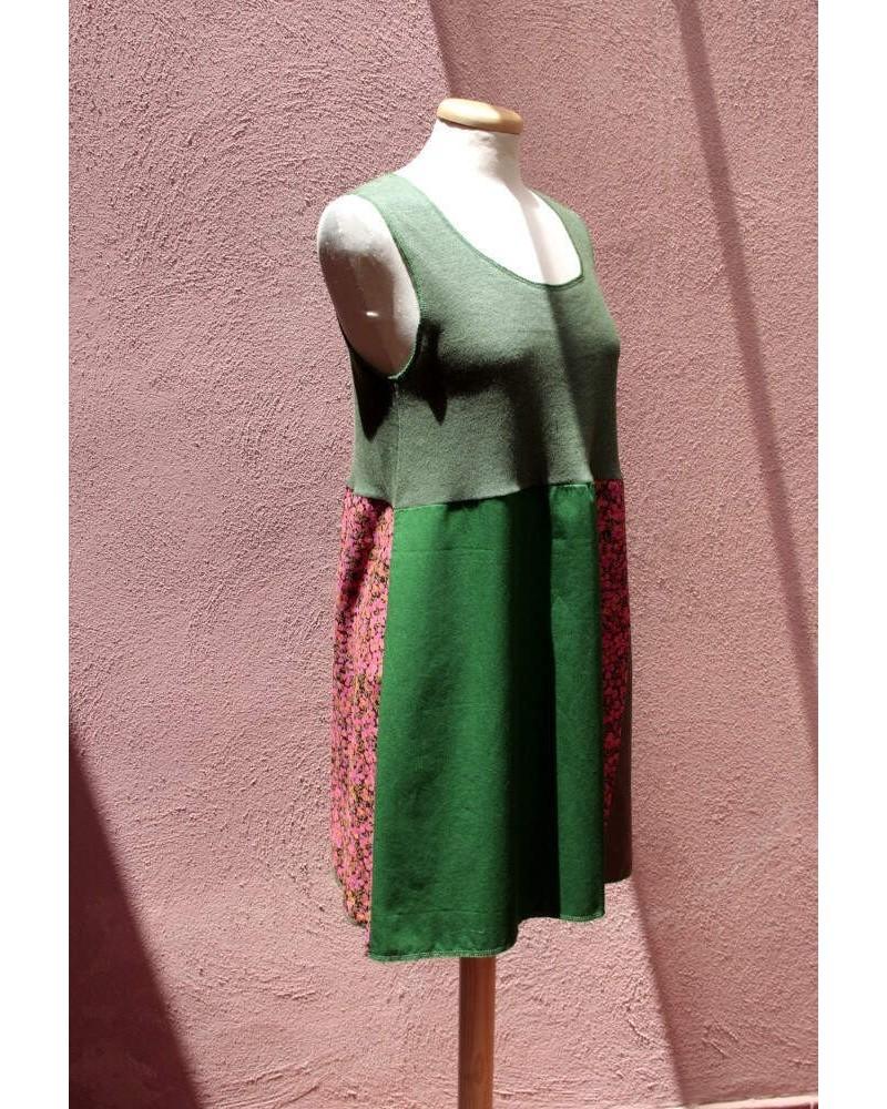 Vestito in canapa e cotone Sartoria Lavgon Made in Italy Verde