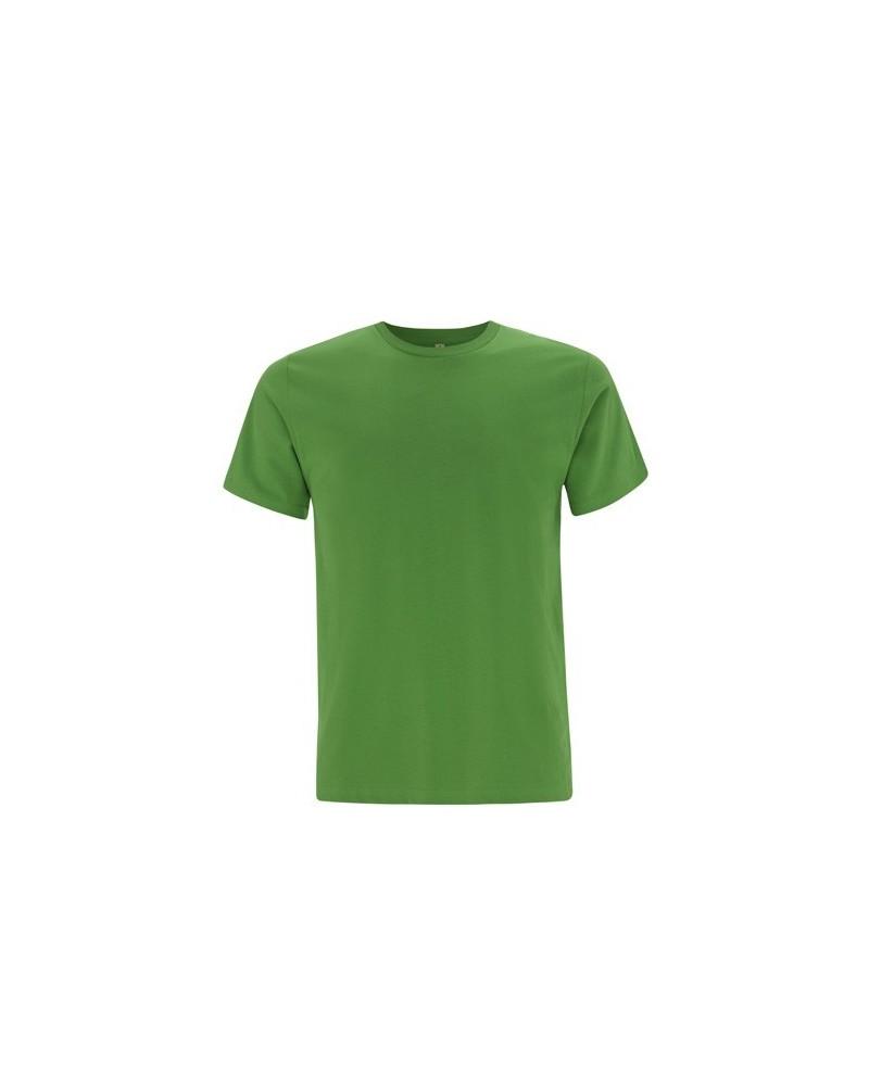 T-shirt uomo in cotone biologico. Prodotto ecologico. Verde chiaro
