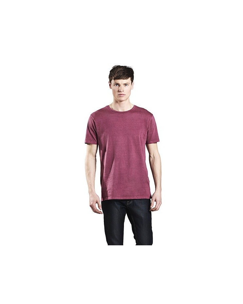 T-shirt uomo in cotone biologico tinto in capo. Blu denim