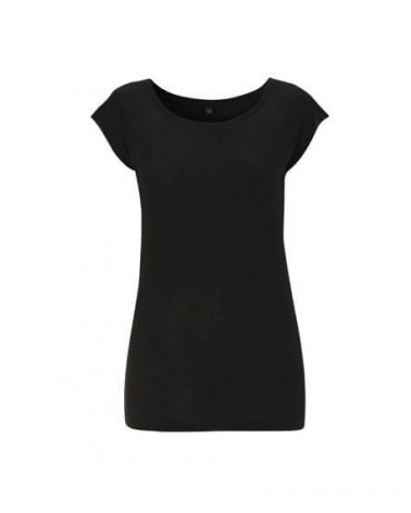 T-shirt donna in bambù nero
