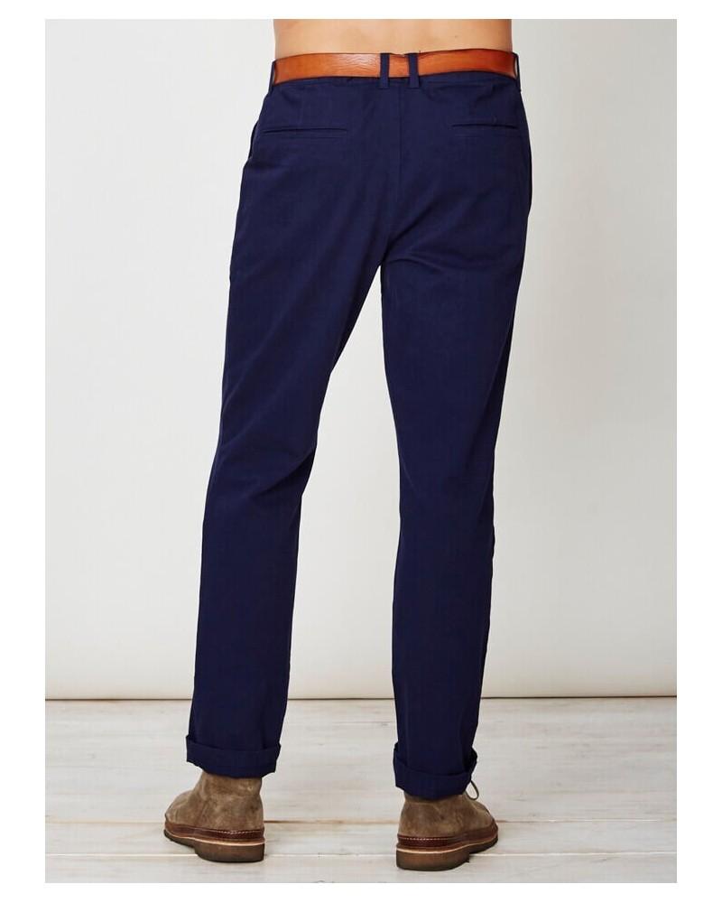 Pantalone uomo in cotone bio blu indaco Thought