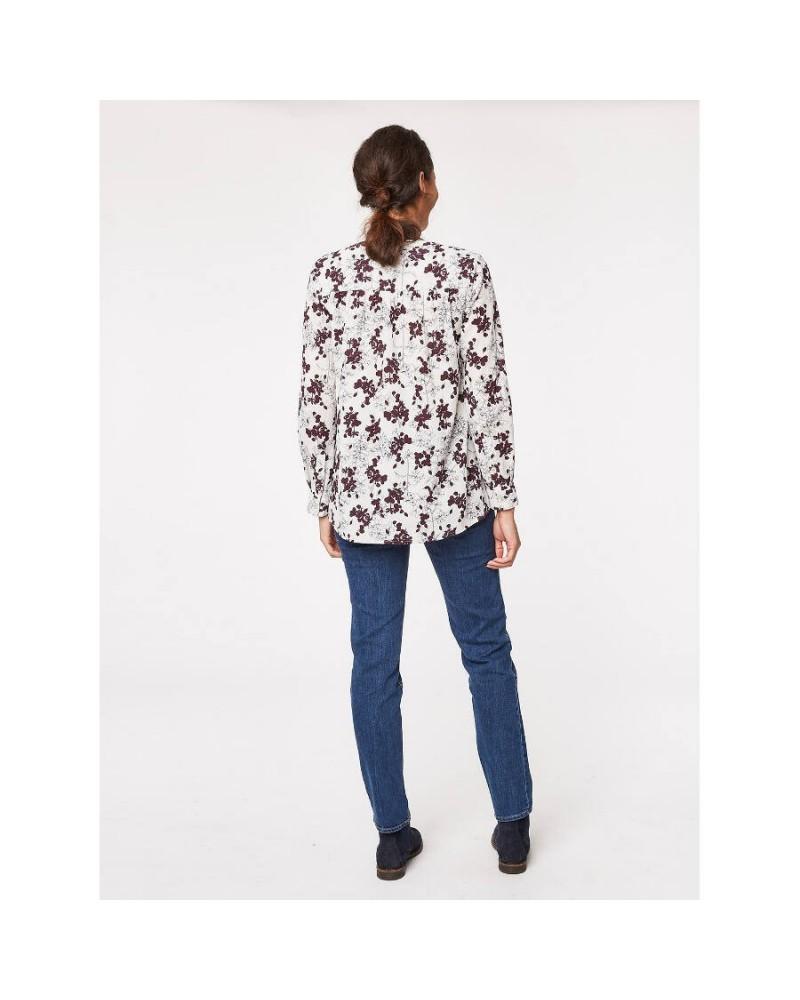 Camicia in cotone organico stampa floreale. Thought