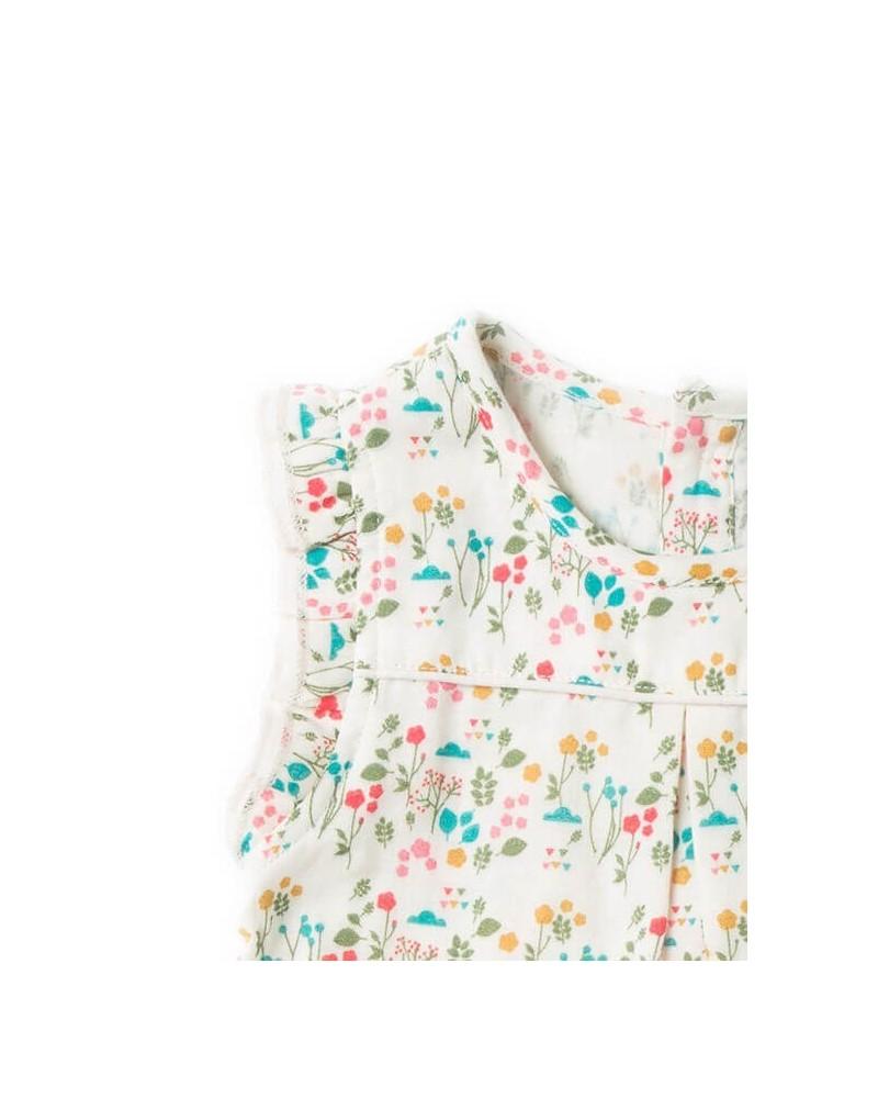 Salopette pantaloni bambina in cotone biologico equosolidale. Botanica
