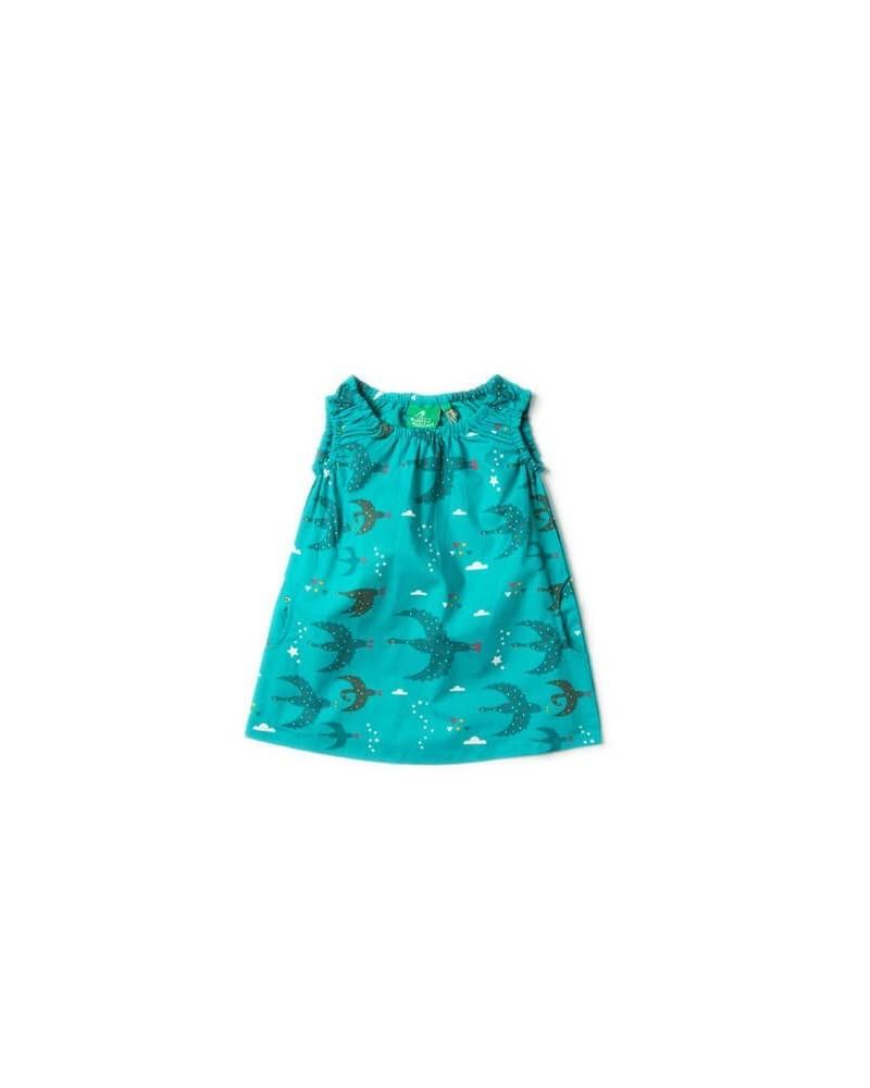 Vestito bambina estivo in cotone biologico equosolidale. Ottanio