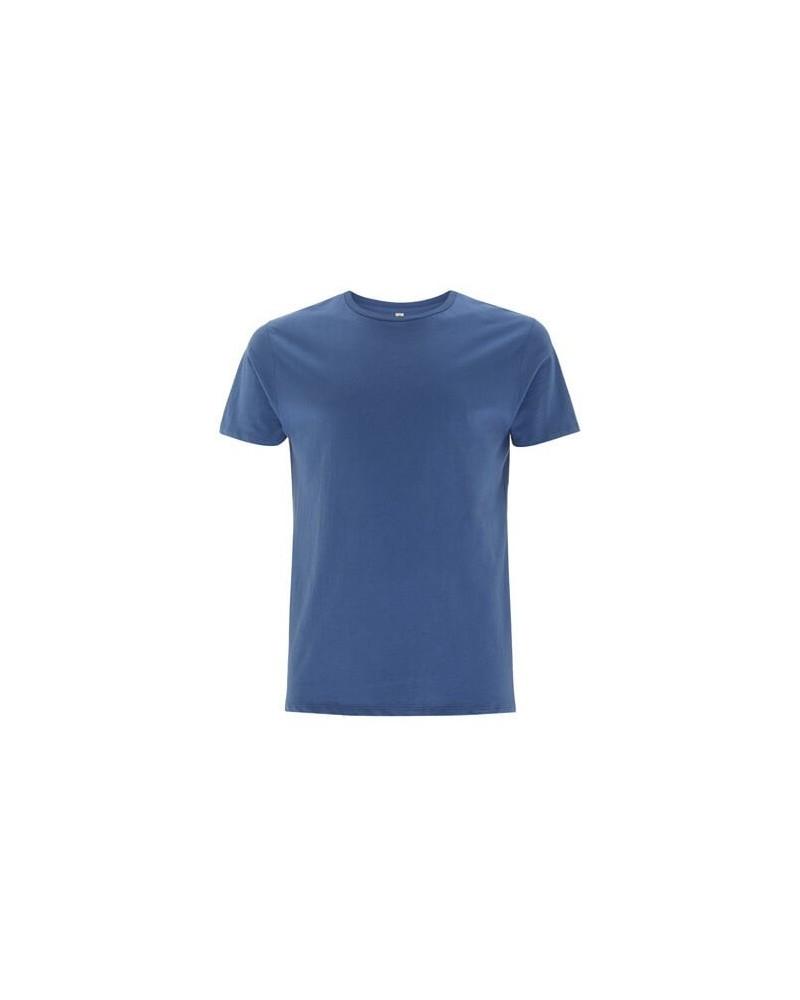 T-shirt uomo blu in cotone biologico. Prodotto ecologico.