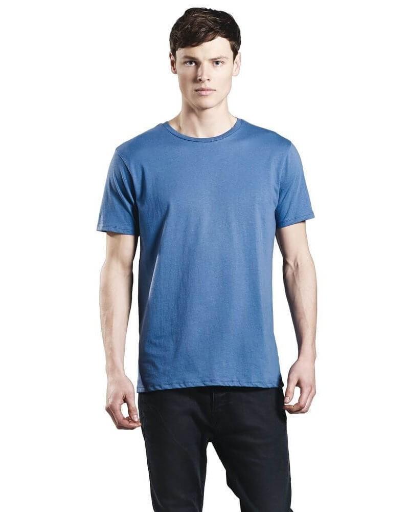 T-shirt uomo grigio in cotone biologico. Prodotto ecologico.