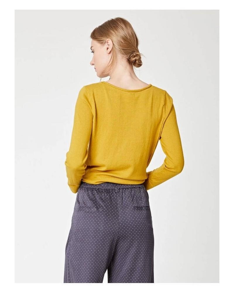 Pantalone estivo a pois antracite. Filati ecologici.