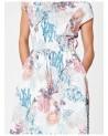 Vestito floreale bianco con maniche. Filati ecologici.