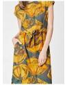 Vestito in tencel fiori gialli. Filati ecologici.