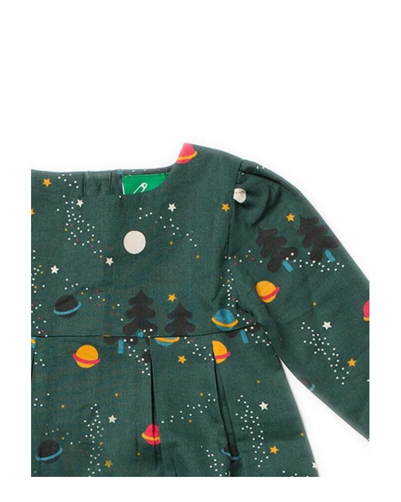 Vestito bambina in cotone biologico equosolidale. Verde