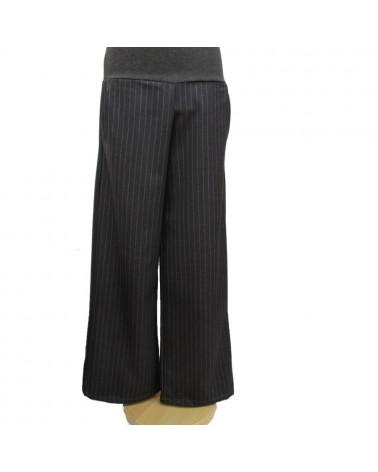 Pantalone sartoriale donna in lana. Made in Italy. Fumo di londra