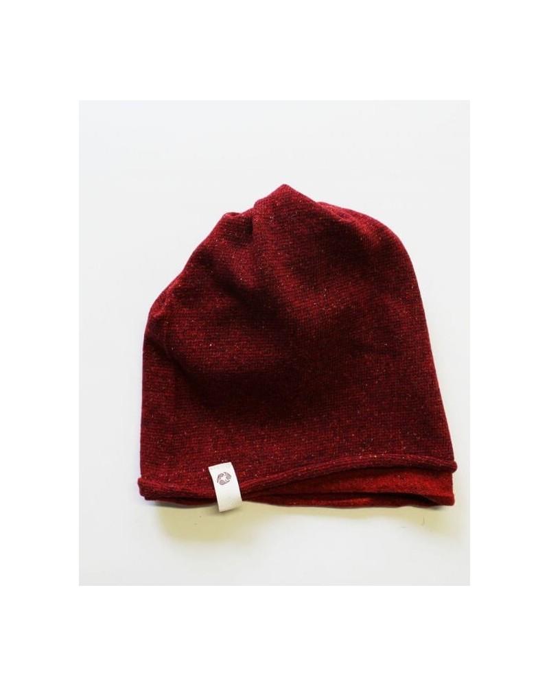 Ganzo lo scaldacollo in lana e seta rigenerata, rosso/ciliegia.