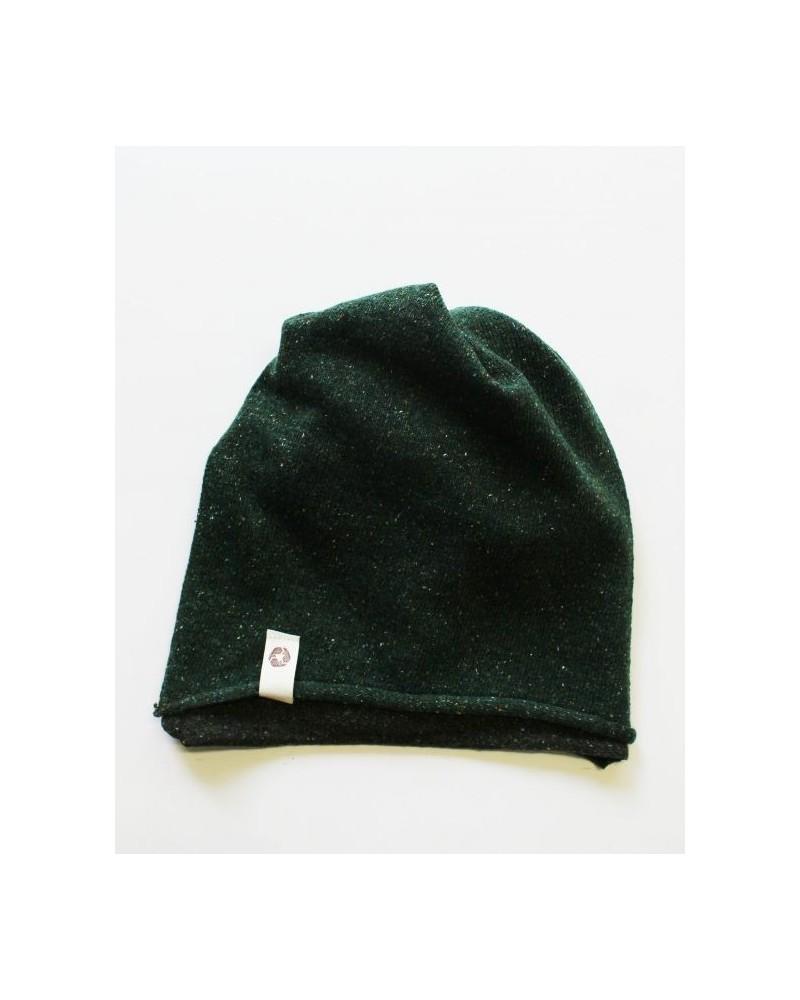 Ganzo lo scaldacollo in lana e seta rigenerata, militare/verde.
