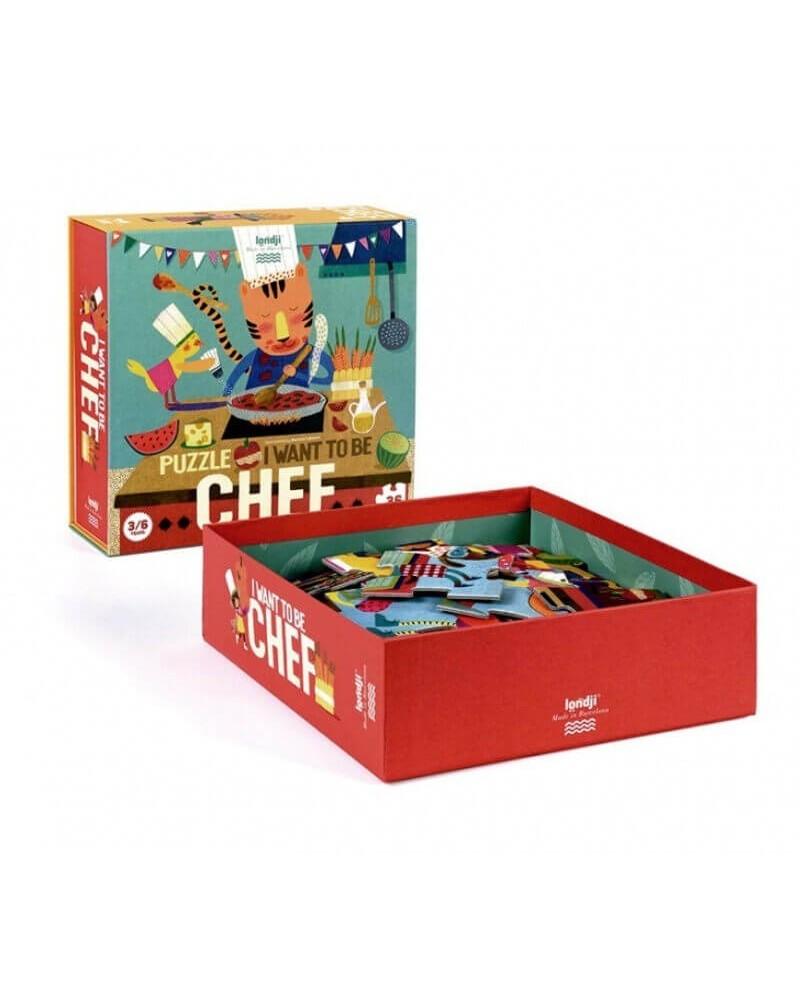 Puzzle ecologico per bambini Chef Londji