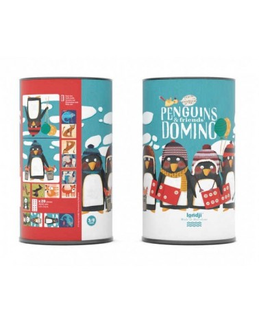 Domino Penguins & friends ecologico per bambini Londji