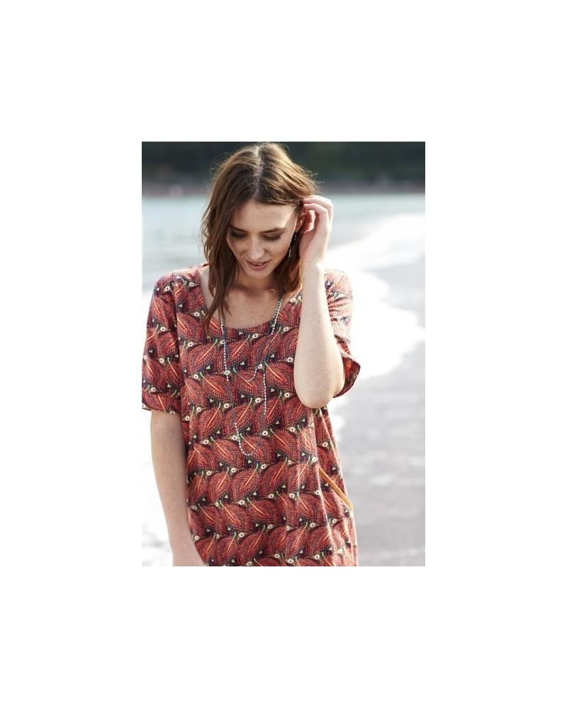 Vestito tunica Lucia in cotone organico. Nomads