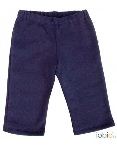 Pantalone blu per bambini in cotone bio felpato