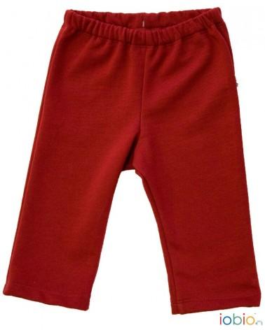 Pantalone per bambini amaranto in cotone bio felpato