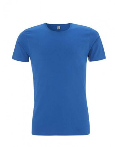 T-Shirt uomo slim blu in cotone bio