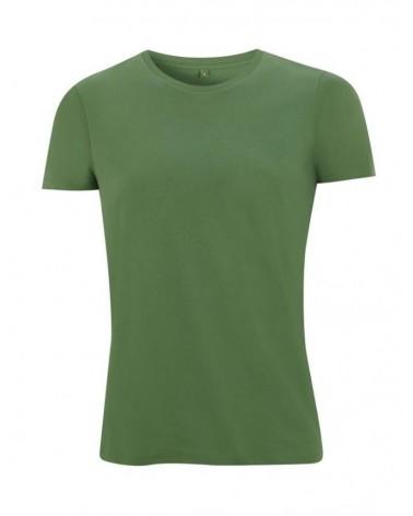 T-shirt verde slim uomo in cotone biologico. Prodotto ecologico.