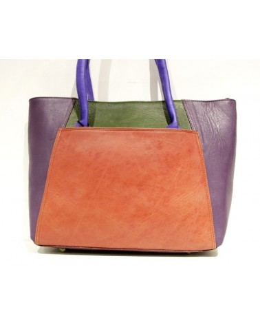 Borsa ecologica in pelle con tracolla. Upcycling bag