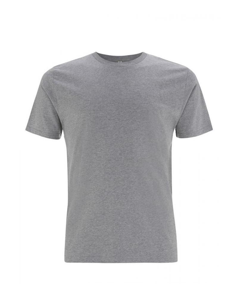 T-shirt uomo grigio scuro in cotone biologico. Prodotto ecologico
