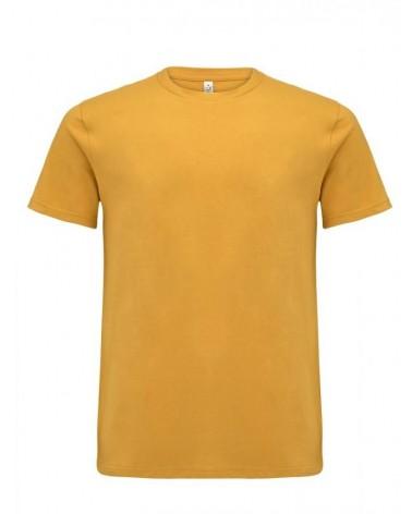 T-shirt uomo ocra in cotone biologico. Prodotto ecologico