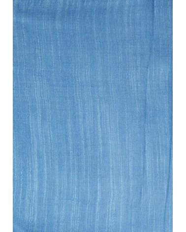 Sciarpa azzurro cielo in seta e lino tinture ecologiche. Filo fine