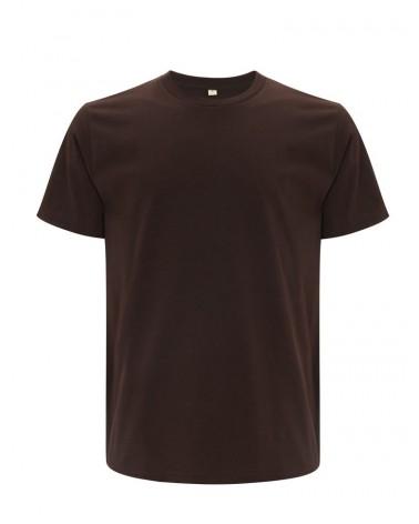 T-shirt brown uomo in cotone biologico. Prodotto ecologico.